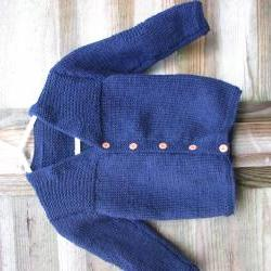 Navy boys cardigan